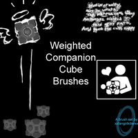 Weighted Compainion Cube Brush by xxfangirlkillerxx