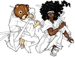 Afro and Jinno WIP by Ella-the-Great