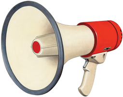 Megaphone Transparent PNG by AbsurdWordPreferred