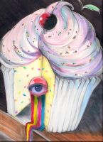 Self-Portrait:  Rainbow Cupcake by PacificSnow