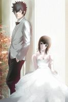 Psycho-pass 2: Kogami x Akane: Wedding by Lesya7