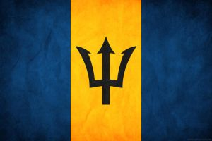 Barbados Grunge Flag by think0
