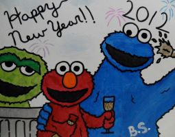 Sesame Street Happy New Year by sampson1721