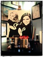 Lana Parrilla and Jennifer Morrison (painting) by radziczek007
