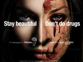 An Anti-Drug Commercial Poster by nikharith
