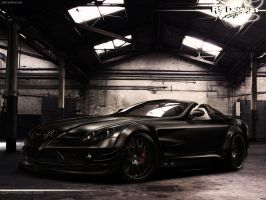 Mercedes Benz SLR Black- front by RS--Design