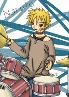 Naruto: the drummer by glasskiwi