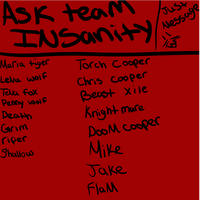 Ask Team Insanity by Mariatiger