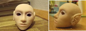 new BJD head by kaelby