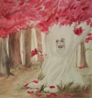Weirwoods Weeping by Jay-Tianne