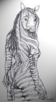 Zebra Girl by Honeytail