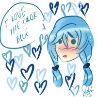 I Love Blue by AyanoHoshi