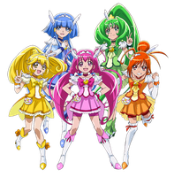 Smile Pretty Cure - New Stage 2 Poses by frogstreet13