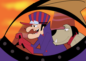 Dick Dastardly and Muttley by akanague