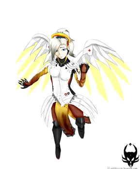 OW fanart: Mercy by NimOfficial