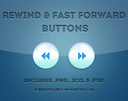 Rew and FFW Buttons by DollyTutoriales by DollyTutoriales