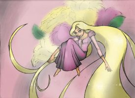 Rapunzel of Disney's Tangled by shonen-shonen