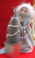 Twyla Ice Blue Winter Fairy by gossamerfae