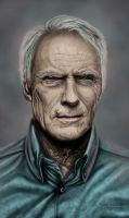 Clint Eastwood by AngelaBermudez