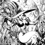 Wicked Witch INKS detail by J-Scott-Campbell