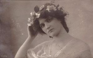 Vintage woman with flowers I by MementoMori-stock