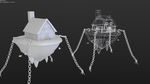 Low-poly floating house by betasector