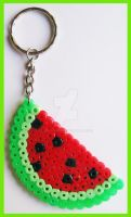 Watermelon Keychain by cherryboop