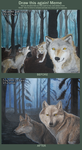 Wolves fog forest painting Meme before and after by LauraRamirez