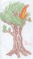 112) Burning tree :D by Magicull-Delesia