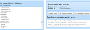 ++Resultado sorteo 100 points. by DidYouForgetAboutMe