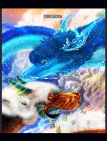 Lapis and Jasper Dragons by Decadia
