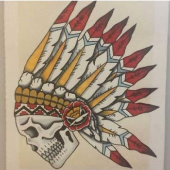 Native skull by recklessendeavor91
