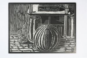 Scratch board Still life by XavierDiemert