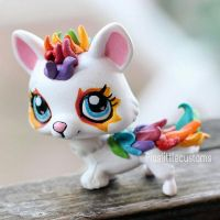 OC Rainbow Dragon LPS custom by pia-chu