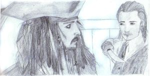 Jack Sparrow and Will Turner by Mistical1