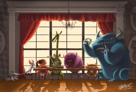 Monster Tea Party by betsybauer