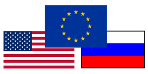 United States Russia EU flag mix by ShitAllOverHumanity