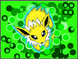 Chibi Jolteon by ShroudofShadows
