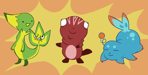 Pokeman Starters by NuclearBandaid