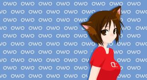 owo wallpaper by Thundervalley