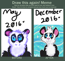 Panda Redraw Meme by waterdoqqo