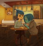 Joy x Sadness: coffee date by catharticaagh