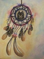 Dreamcatcher - watercolour by LookAliveHolly