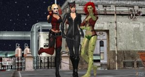The Gotham City Sirens by cablex452