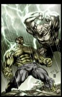 Hulk VS Abomination by Gabriel-Cassata