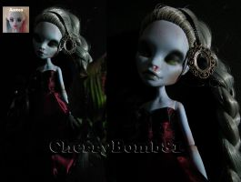 Monster High Abbey Repaint Custom Doll by cherrybomb-81