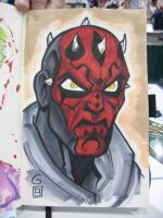 SDCC Sketch: Darth Maul by grantgoboom