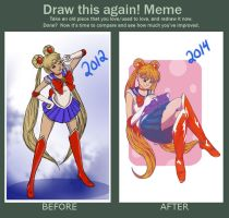 Redraw: Sailor Moon by DeathlySilent