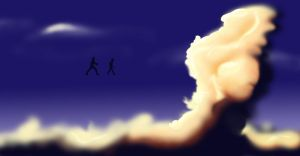 With the Clouds. by mayuzane