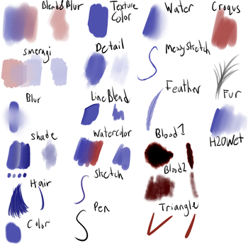 Old Paint Tool SAI Brushes by TheEpicCoyote